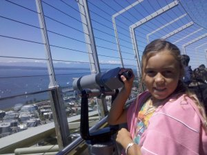 Telescope views from top of Space Needle