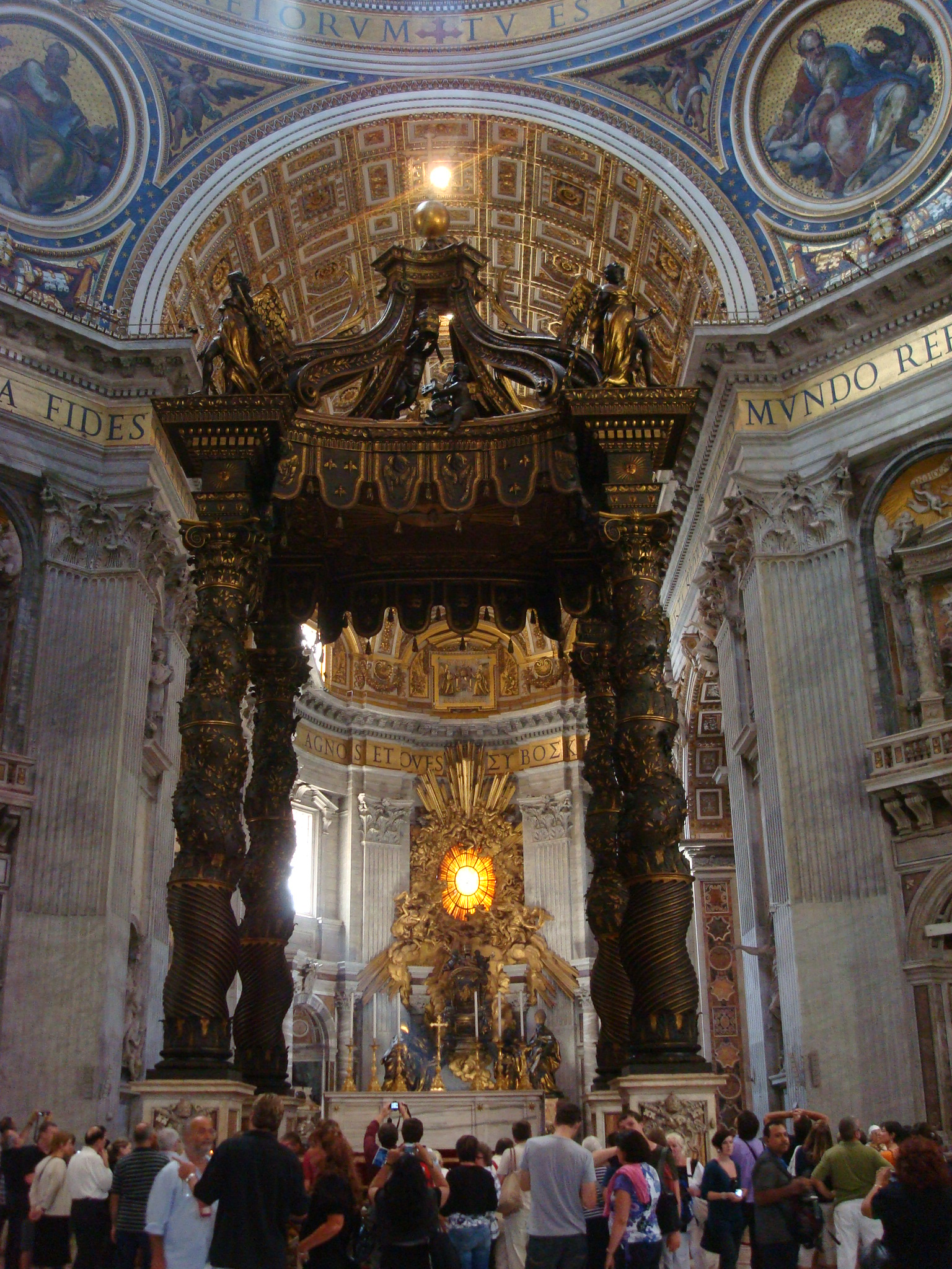 an analysis of the altarpiece of saint peter The first comprehensive examination of one of the world's greatest decorative  ensembles, this  scheme of saint peter's eleven domes and numerous  altarpieces.