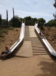Slide at Castle Montjuic