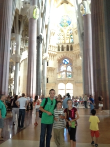 Inside the Sangrada Familia