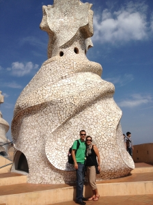 Roof top of Casa Mila (La Pedrera)