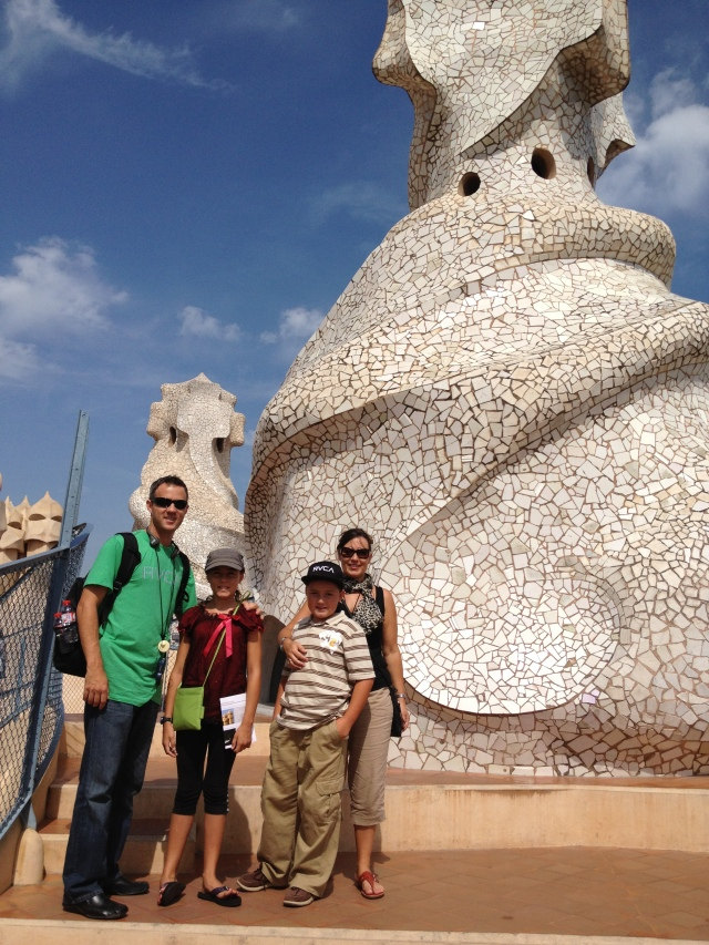 Roof top of Gaudi's Casa Mila