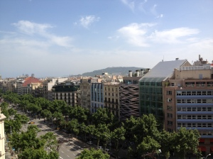View from the roof top of Casa Mila