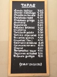 Tapas Sign
