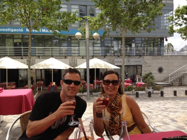 Sangria on Barcelona Wharf