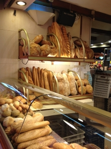 Fresh baked bread at market