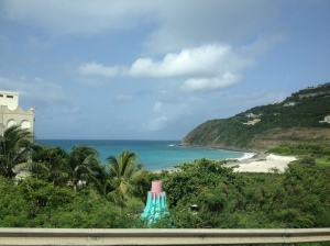 Driving through the Dutch side of Sint Maarten