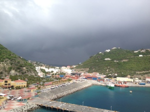 View of St Maarten from ship