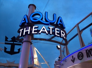 Aqua Theater at night