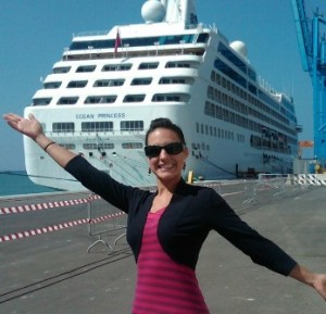 Ocean Princess at Civitavecchia cruise port, Rome