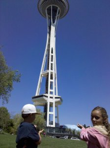 Kids at Space Needle