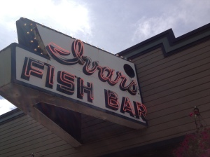 Ivar's Sign on Pier 54
