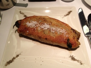 Breakfast with Jean-Georges Vongerichten, Buckwheat Spinach Calzone