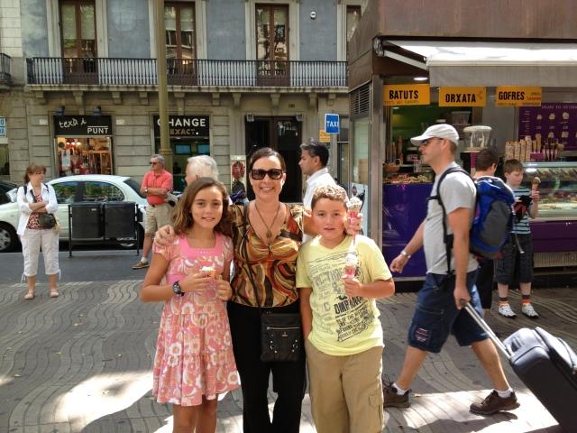 Gelato in Barcelona