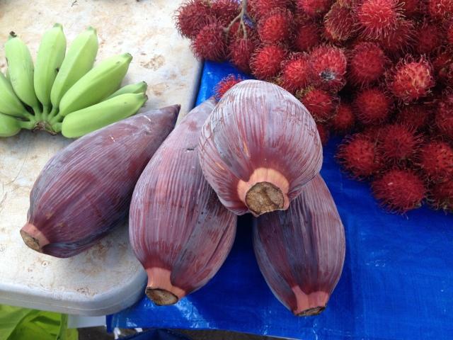 Banana, banana hearts & rambuton