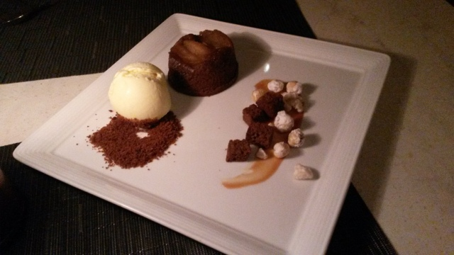 Warm Ginger Cake with Asian Pear