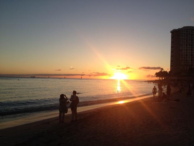 Sunset at Moana Surf