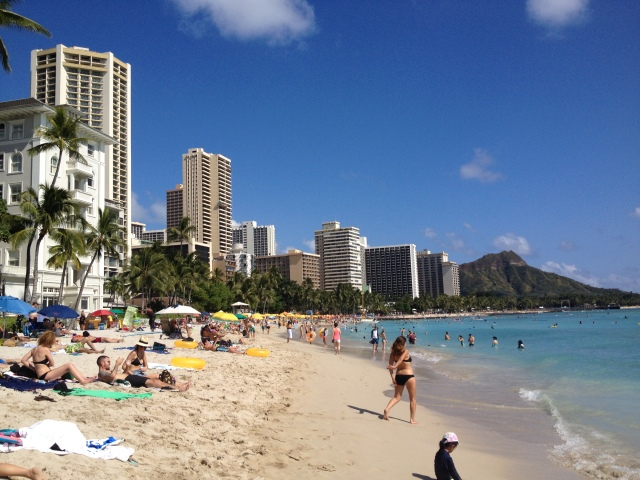 View of Waikiki from Moana Surf