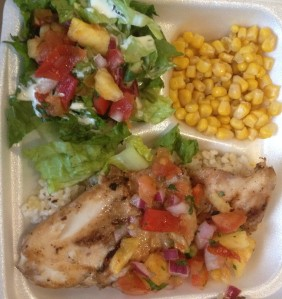 Fresh Island Fish with Lilikoi Pineapple Salsa