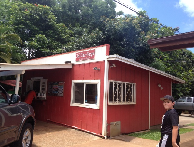 Duane's Ono Char Burger stand
