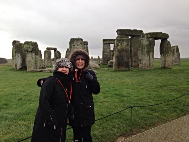 Stonehenge with Mom